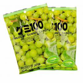 Combo 2 gói kẹo dẻo vị nho xanh Kasugai (107g)