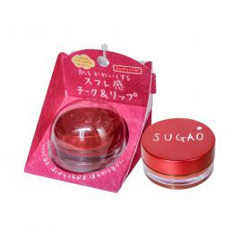 Kem má hồng kiêm son Rohto Sugao Air Fit Cheek & Lip Natural Red 6.5g (Màu đỏ)