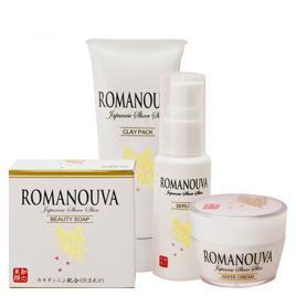 Bộ mỹ phẩm thiên nhiên dưỡng da căng trắng mịn Nhật Bản - ROMANOUVA