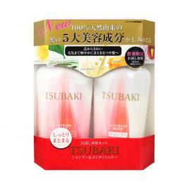 Bộ dầu gội và dầu xả Shiseido Tsubaki Shining Nhật Bản 315ml (màu đỏ)