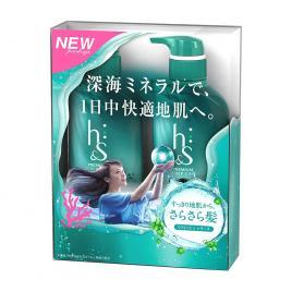 Bộ đôi dầu gội và dầu xả trị gàu HS 370ml (Màu xanh nhạt)