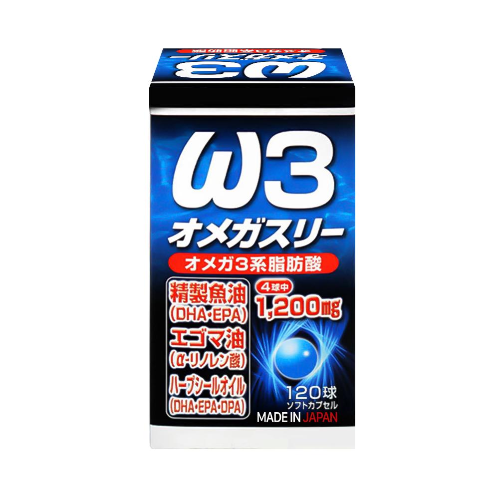 Viên uống bổ mắt, tăng cường trí não DHA&EPA Omega W3 Yuki 120 viên