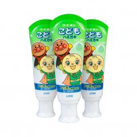 Combo 3 kem đánh răng trẻ em Lion vị dưa 40g