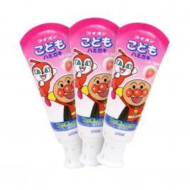 Combo 3 kem đánh răng trẻ em Lion vị dâu 40g