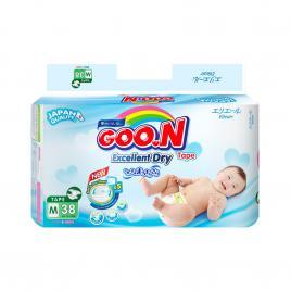 Bỉm - Tã dán Goo.N Renew Slim size M 38 miếng (Cho bé 7 - 12kg)