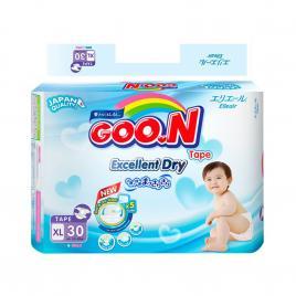 Bỉm - Tã dán Goo.N Renew Slim size XL 30 miếng (Cho bé 12 - 20kg)