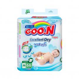 Bỉm - Tã dán Goo.N Renew Slim size M 66 miếng (Cho bé 7 - 12kg)