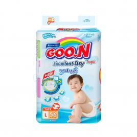 Bỉm - Tã dán Goo.n Renew Slim size L 56 miếng (Cho bé 9 - 14kg)