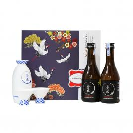 Hộp quà tết rượu sake Tamanohikari Junmai Ginjo Karakuchi 300ml