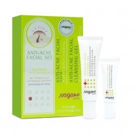 Combo gel rửa mặt (30ml) và serum trị mụn Nagano (10ml)