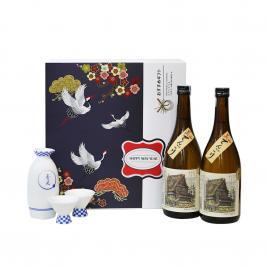 Hộp quà tết rượu Sake Oishi Miyama Tengori 720ml