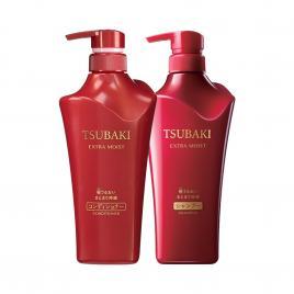 Bộ dầu gội và dầu xả siêu cấp ẩm Shiseido Tsubaki Extra Moist 500ml