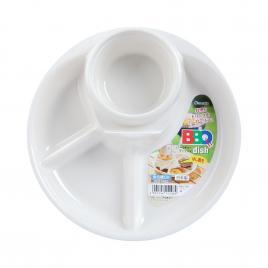 Khay ăn 3 ngăn Nhật Bản Inomata (Màu trắng)