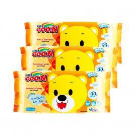Combo 3 gói khăn giấy ướt trẻ em Goo.N 66 miếng