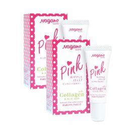 Combo 2 tuýp kem làm hồng nhũ hoa Nagano Pink Nipple Jelly 10ml