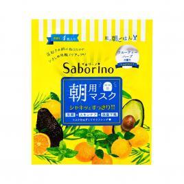 Mặt nạ dưỡng ẩm buổi sáng Saborino Morning Facial Sheet Minty Fresh 5 Miếng (Hương trái cây)
