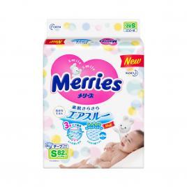 Bỉm - Tã dán Merries size S 82 miếng (Cho bé 4 - 8kg)