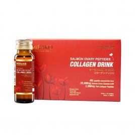 Nước uống collagen hải sinh Mirako Salmon Ovary (Hộp 10 chai x 50ml)