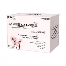 Nước uống Collagen Mirako BB White (Hộp 10 chai x 50ml)