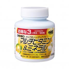 Viên nhai bổ sung Vitamin và khoáng chất Orihiro Most Chewable 180 viên (Vị xoài)