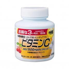 Viên nhai bổ sung Vitamin C Orihiro Most Chewable 180 viên (Vị cherry)