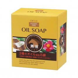 Xà phòng tắm chiết xuất từ dầu dừa, hoa trà và dầu ngựa Kumano Deve 100g