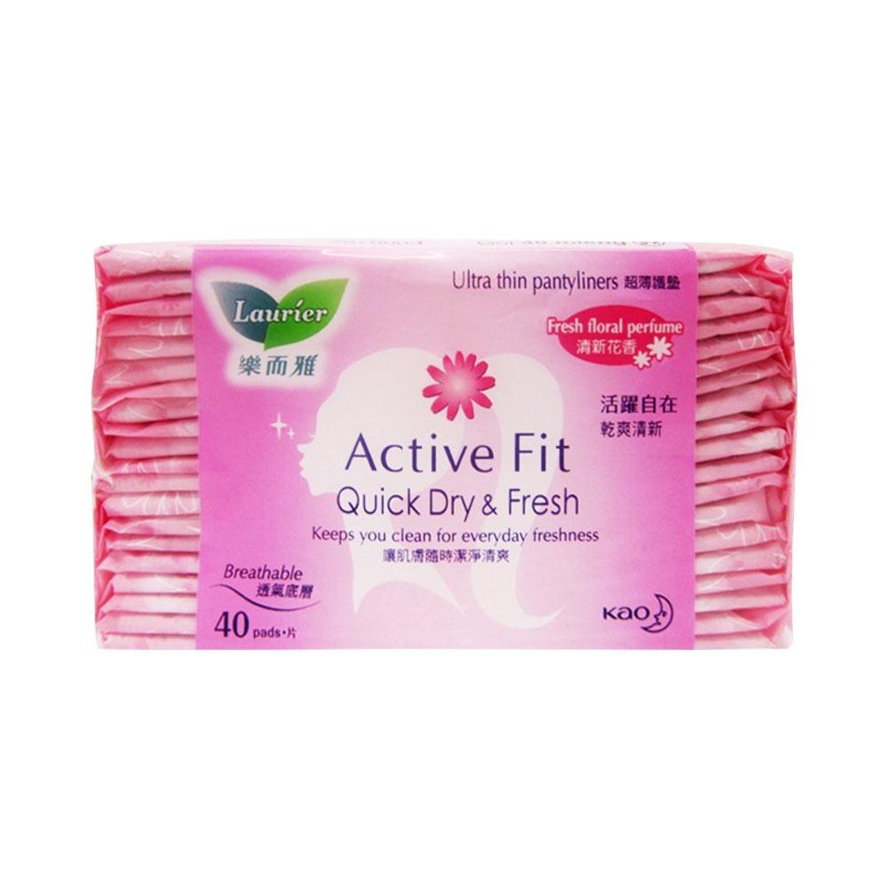 Băng Vệ Sinh Hằng Ngay Laurier Active Fit Quick Dry Fresh 40 Miếng Hương Hoa