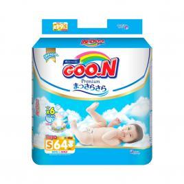 Bỉm - Tã dán Goo.N Premium size S 64 miếng (Cho bé 4-8kg)