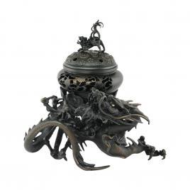 Lư đồng đốt hương Nippon Kodo Kissyouryu Kouro