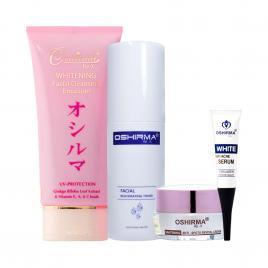 Bộ 4 sản phẩm dưỡng trắng và trị mụn Oshirma Re-X