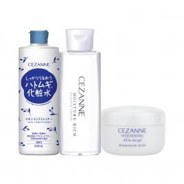 Bộ 3 sản phẩm dưỡng ẩm trắng da Cezanne