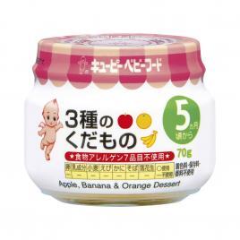 Trái cây nghiền ăn dặm táo, chuối, cam Kewpie 70g (Cho trẻ từ 5 tháng)