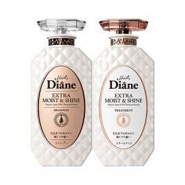 Bộ đôi dầu gội, xả phục hồi tóc sáng bóng Moist Diane Extra Moist & Shine 450ml