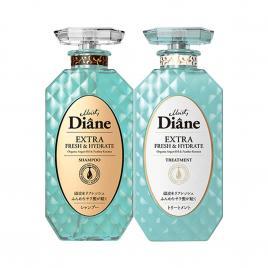 Bộ đôi dầu gội, xả kiểm soát dầu Moist Diane Extra Fresh & Hydrate 450ml