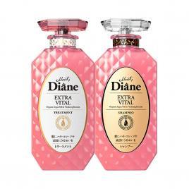 Bộ đôi dầu gội, xả chăm sóc da đầu và tóc yếu Moist Diane Extra Vital 450ml