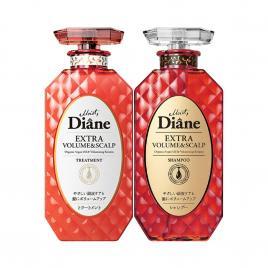 Bộ đôi dầu gội, xả chống rụng, làm phồng tóc Moist Diane Extra Volume & Scalp 450ml