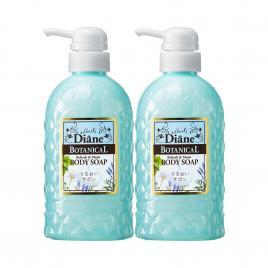 Combo hai chai sữa tắm hương bạc hà Moist Diane Botanical Refresh & Moist 500ml