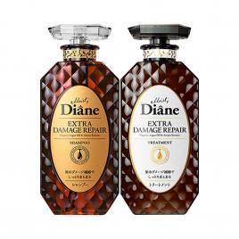 Bộ đôi dầu gội, xả phục hồi tóc hư tổn Moist Diane Extra Damage Repair 450ml