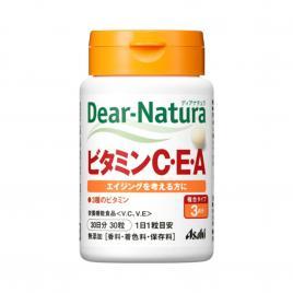 Viên uống bổ sung Vitamin C, E & A Asahi Dear Natura 30 viên