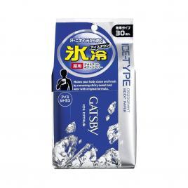 Giấy ướt khử mùi Gatsby Ice Nhật Bản 30 miếng