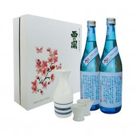 Hộp quà tết Sum Vầy Hạnh Phúc - Nishi no Seki Hiya 720ml