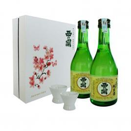 Hộp quà tết Sum Vầy Hạnh Phúc - Nishi no Seki Junmaishu 300ml