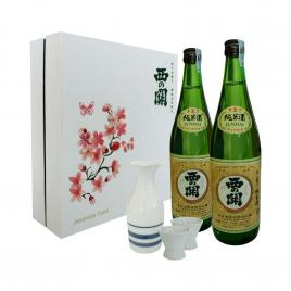 Hộp quà tết Sum Vầy Hạnh Phúc - Nishi no Seki Junmaishu 720ml