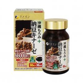 Viên uống hỗ trợ điều trị tai biến Fine Japan Okinawa Moromi Nattokinase 66000FU 90 viên