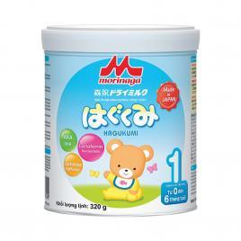 Sữa Morinaga Hagukumi số 1 Nhật Bản 320g (Cho bé 0 - 6 tháng)