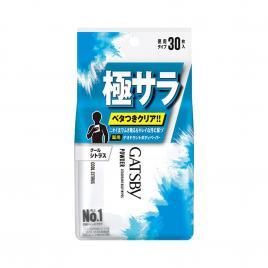 Giấy ướt khử mùi Gatsby Cool Nhật Bản 30 miếng