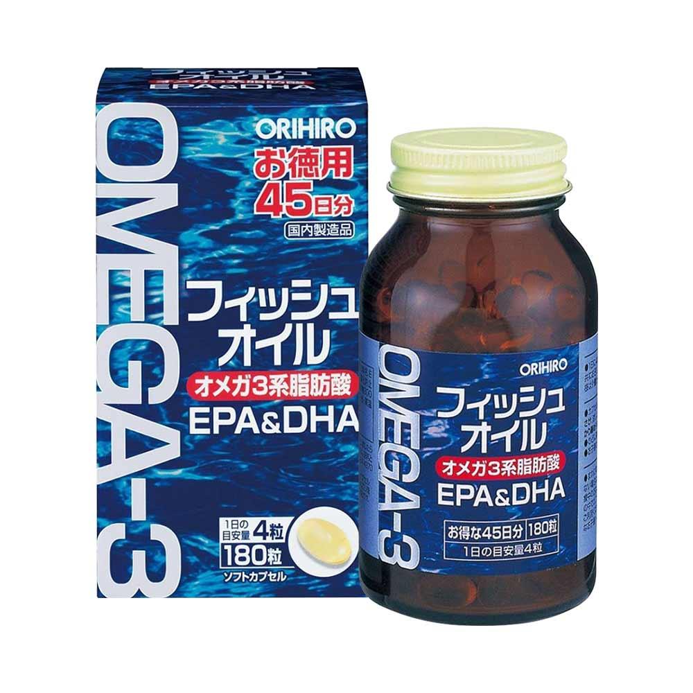 Viên uống bổ mắt Omega-3 Orihiro 180 viên