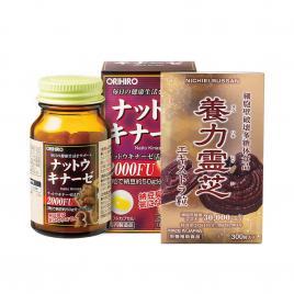 Bộ đôi chăm sóc sức khỏe Nichiei Bussan Nourishing Reishi & Orihiro Nattokinase 2000FU