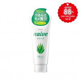 Sữa rửa mặt lô hội Naïve chính hãng Nhật Bản 130g