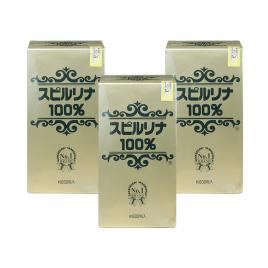 Combo 3 hộp Tảo Spirulina Japan Algae + 10% Deep Sea No.1 loại 600 viên
